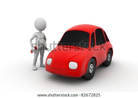 auto mechanic with bike