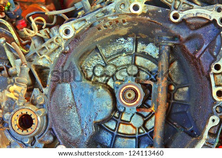 Auto Parts disassembled unusual colors ready for processing
