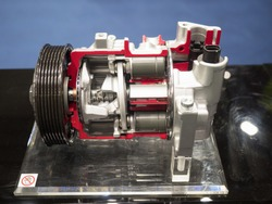 Auto parts. One side swash plate type compressor.
