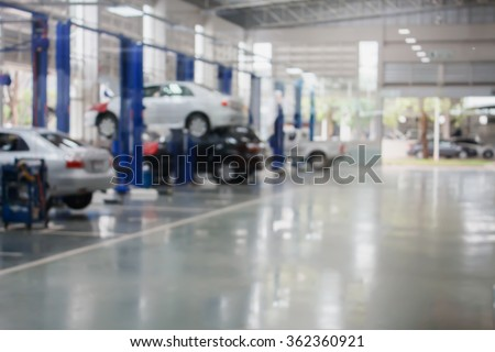 Shutterstock auto repair service station blurred background