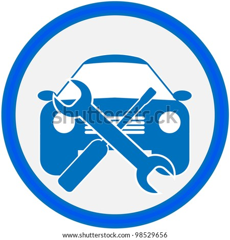 Auto repair shop sign. Vector illustration. - stock photo