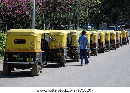 Auto rickshaw, India - stock photo