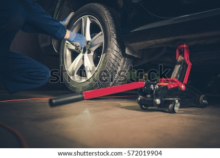 Auto Service. Car Tire Replacement and Maintenance.