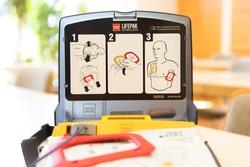 Automated external defibrillator in german Fire brigade