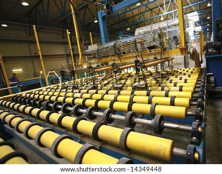 Automated line in manufacture