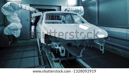 Automated production of automotive casings on automotive production lines #1328092919