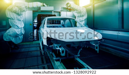 Automated production of automotive casings on automotive production lines #1328092922