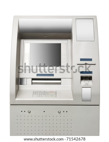 Automated teller machine close-up