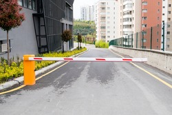 Automatic barrier for security system.