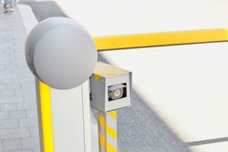 Automatic car barrier gate with Surveillance Camera, security and access control