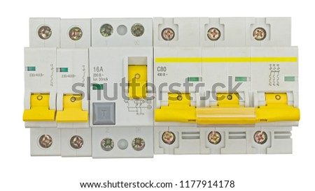 Automatic circuit breaker, isolated on a white background #1177914178
