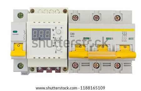 Automatic circuit breaker, isolated on a white background #1188165109