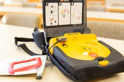 automatic electronic defibrillator based in german fire department