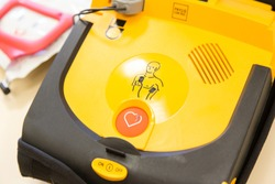 automatic external defibrillator based in fire station
