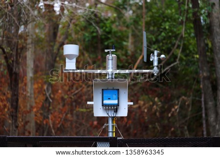 Automatic forest meteorological station. Forest weather forecast.