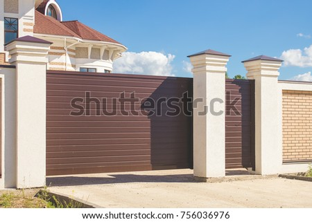 automatic gate for cars in a...