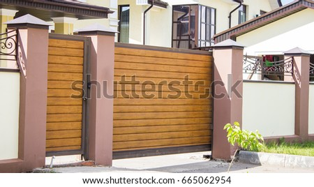 automatic gate to the patio of...