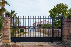 automatic gates for a country house.