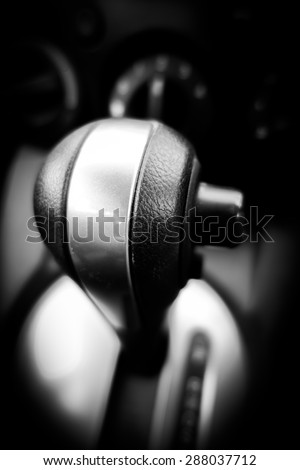 Automatic gear control in car #288037712