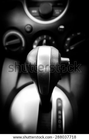 Automatic gear control in car #288037718