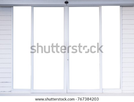 automatic glass door office with aluminum frame
