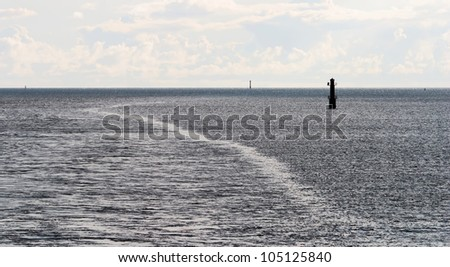 Automatic lighthouses in the archipelago of the Aland Islands, Finland