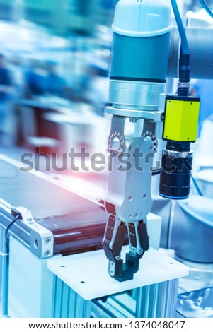 automatic machine tool in industrial manufacture factory,Smart factory industry 4.0 concept