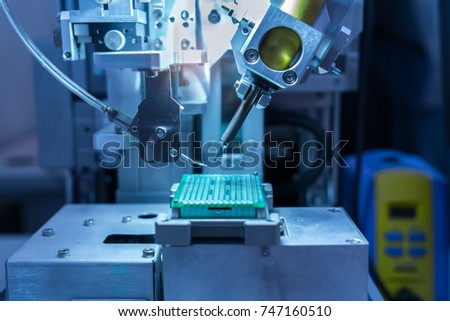 automatic machinery for soldering electronic components