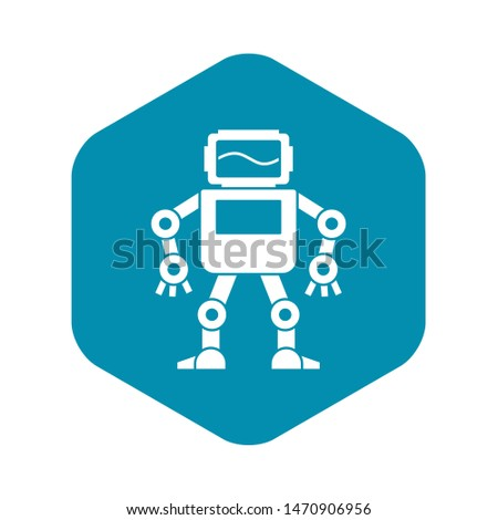 Automatic mechanism with with monitor head icon. Simple illustration of automatic mechanism with monitor head icon for web
