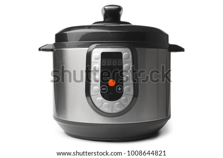Automatic multicooker and pressure cooker on white background Stock photo ©