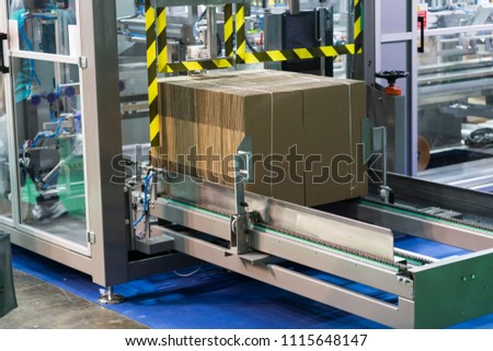 Automatic packing machine with plastic bag and paper box, high speed packing machine for food product industrial, high technology manufacturing process