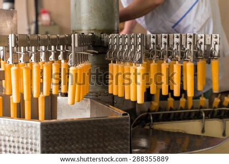 Automatic production line of fruit ice