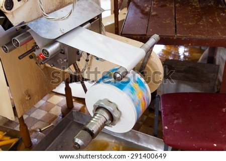 Automatic production line of fruit ice and ice cream