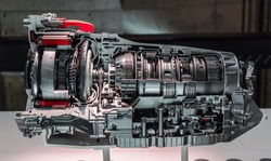 Automatic transmission gearbox. Automobile transmission gearbox in sections