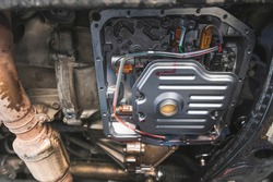 Automatic Transmission Service by Change Automatic Transmission Filter and Fluid.