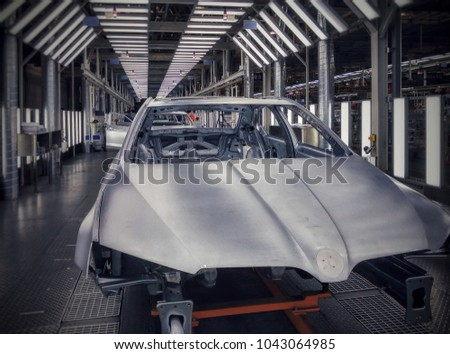 Automobile manufacturing factory #1043064985