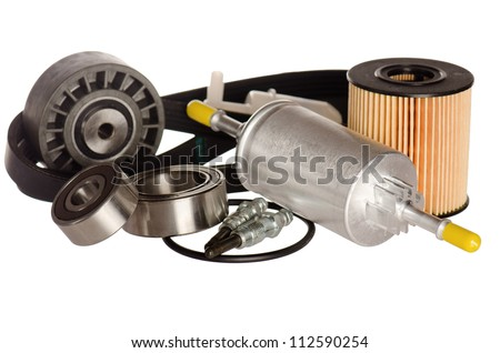 Automobile spare parts, it is isolated on white
