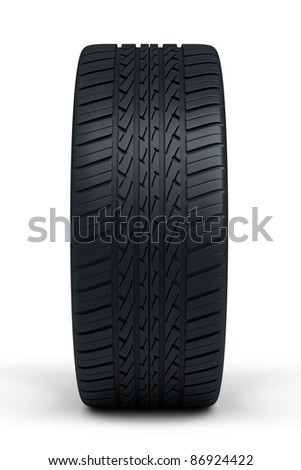 automobile tires (isolated on white and clipping path)
