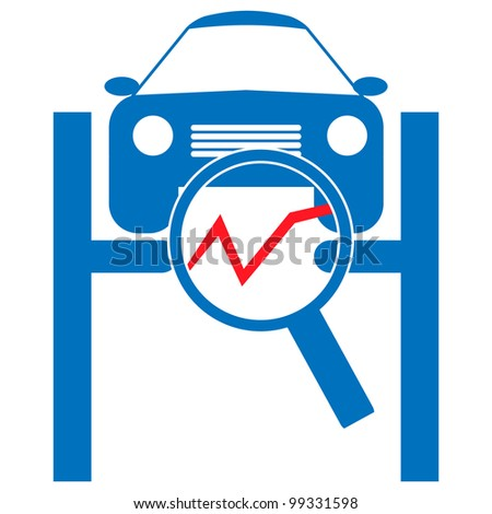 Automotive diagnostic repair icon. - stock photo