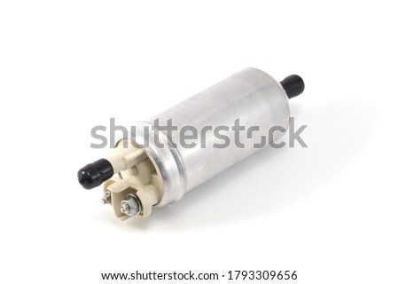 automotive fuel pump isolated on white background