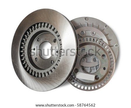 automotive parts. Isolated on white with clipping path