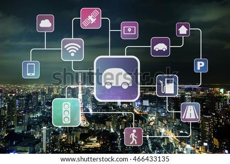 automotive technologies, smart transportation, abstract image visual