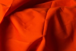 Autumn abstract rush orange earth tone fabric picture for the hemisphere above the surface.