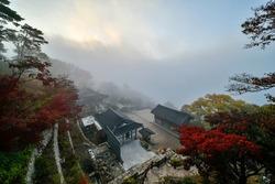 Autumn and ginkgo trees at Sujongsa Temple in Joan-myeon, Namyang-si, Gyeonggi-do, Korea.