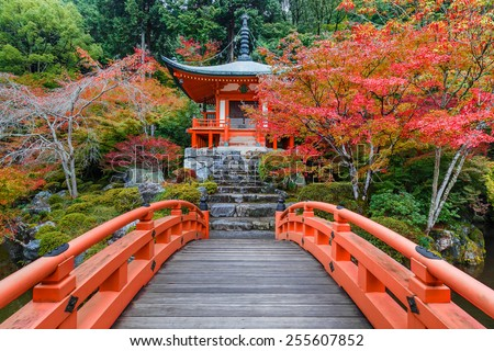 Autumn at Daigoji Temple in Kyoto, Japan   - stock photo