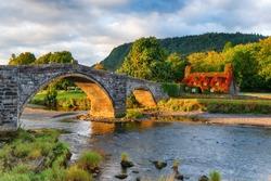 Autumn at Llanrwst bridge in north Wales