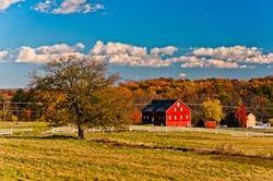 Autumn at the Gettysburg Battlefield, Pennsylvania USA
