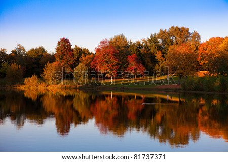 Stock Photo autumn at the lake