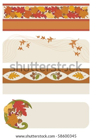 Autumn Banners - Raster Version