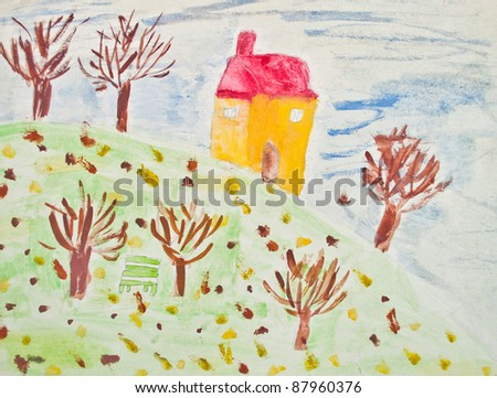 Autumn - Child's painting